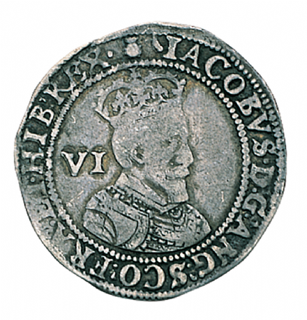 James I Silver sixpence 1603-1625 In Fine Condition